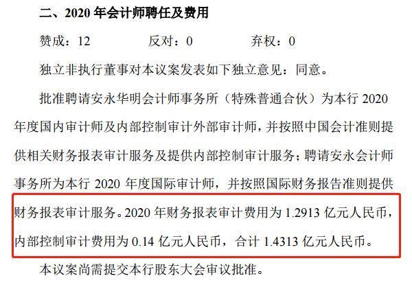 中国银行1.43亿聘安永为审计师
