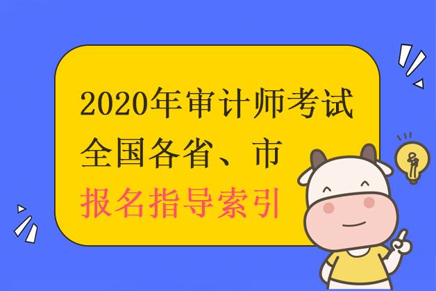 2020年全国各省、市审计师考试报名指导索引